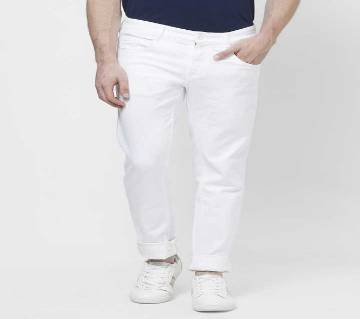 GENTS TWILL COTTON GABARDINE PANT-WHITE