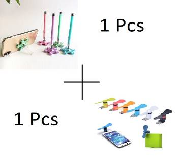 Mini USB OTG Fan 1 Pcs + Colorful VIP Stand Pen With Base
