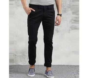GENTS TWILL COTTON GABARDINE PANT-BLACK