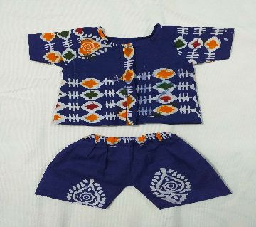 Dress For Baby Boy Cotton Fotua & Pant (0-6) Months
