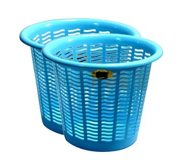 Round Bin/Basket - Sky Blue - 2 Pcs