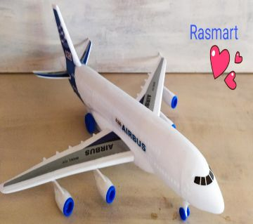 White plastic Air plane for baby-Airbus A390 Model Toy