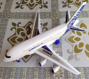 With Music White plastic Air plane for baby-Airbus A390 Model Toy