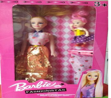 Pink plastic Doll for girls