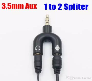New Style Converter - 3.5mm Audio Jack to Headphone and Microphone U Splitter