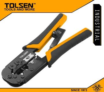 TOLSEN rachet moduler crimping piller with rounf cable stripper