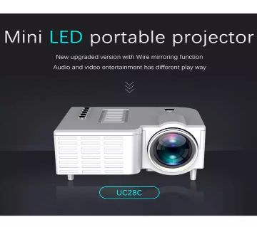 UC28C Projector USB Mini Projector Home Media Player Can Be Connected Directly to the Phone with the Same Screen Projector