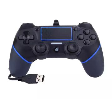 USB Wired Game Controller For Sony PlayStation 4 Joystick Gamepad Controller - blue&black