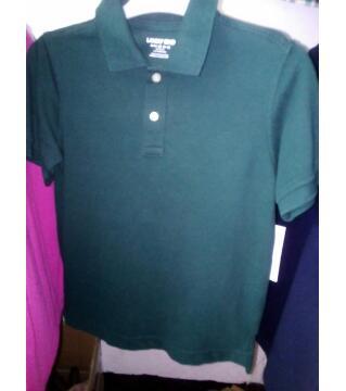 Boys Solid Color Polo Shirt