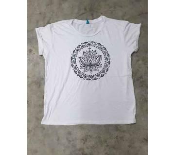 Ladies T-shirt - White & Black