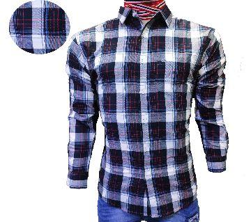Mens casual check shirt for men-purple check