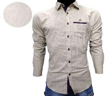 Mens Cotton full sleeve casual shirt  -ghee