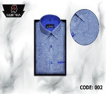 Slim Fit cotton full sleeve Shirt for Men-blue