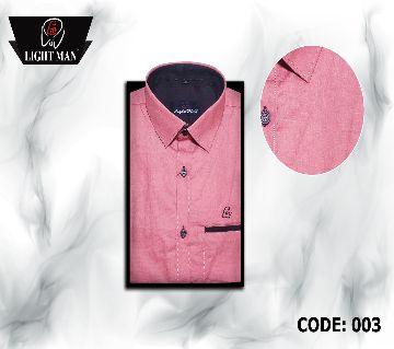 Slim Fit cotton full sleeve Shirt for Men -pink