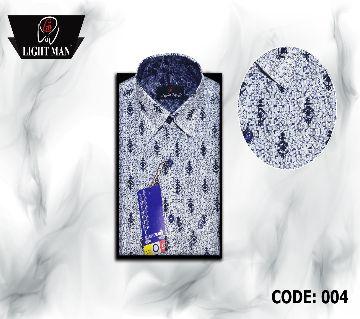 Slim Fit cotton full sleeve Shirt for Men-blue print
