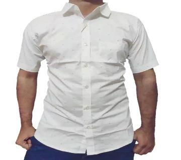 half sleeve casual shirt for men -whtie