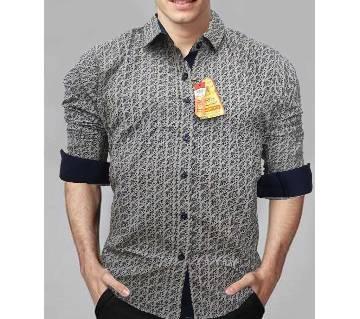 Print Cotton Slim Fit Shirt for Men