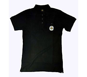 Warsteiner Black polo T-Shirt CASUAL with pocket, shorts sleeve