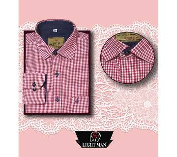 Latest Red&white Contrast Design Shirt for Men