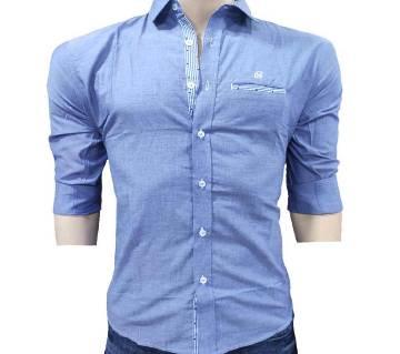 Latest One color Contest DesignShirt for Men-blue