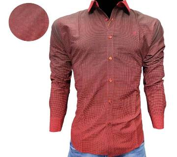 cotton casual Shirt for Men-maroon