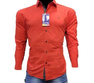 One color Contest Shirt for Men-orange