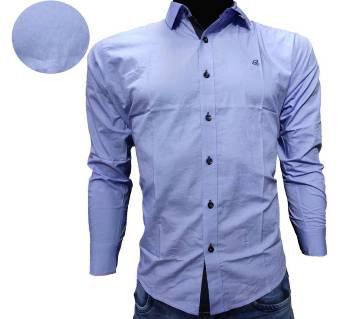 One color Contest Design Shirt for Men-sky blue
