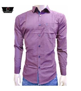 full sleeve cotton casual shirt for men-maroon