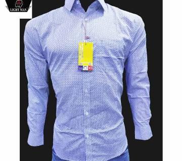 full sleeve cotton casual shirt for men-sky blue
