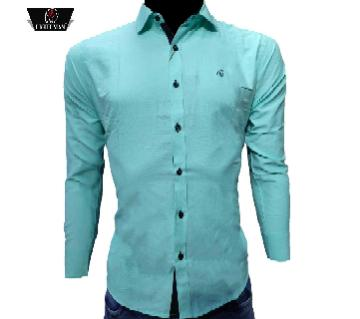 Indian Cotton Fabric full sleeve casual shirt for men