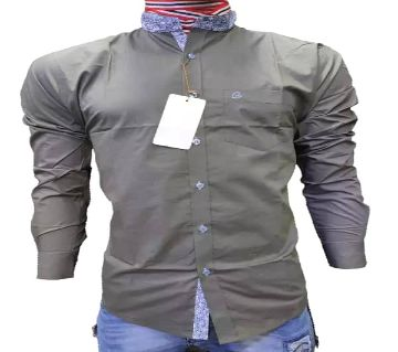 full sleeve casual shirt for men -olive