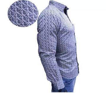 full sleeve casual shirt for men  -purple