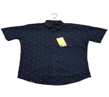 half sleeve casual shirt for men -black