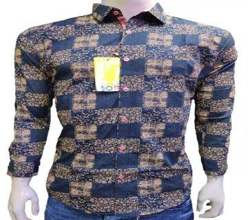 full sleeve casual shirt for men -blue check