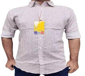 full sleeve casual shirt for men -black -light pink
