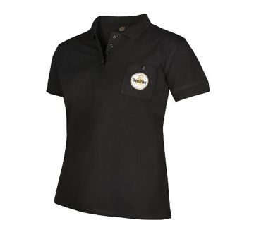 Warsteiner Black polo T-Shirt CASUAL with pocket