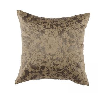 Bronze and metallic Silk Cushion Cover by Ivoryniche