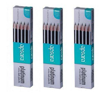 Apsara Platinum Extra Dark Pencils 2B - 12Pcs (Pack Of Six)