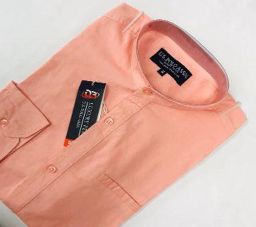Menz full Sleeve Causal Shirt-01-pink