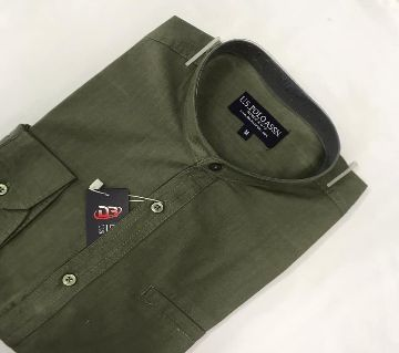 Menz full Sleeve Causal Shirt-02-Olive