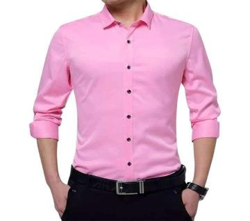 Full Sleeve Formal Shirt For Men-pink