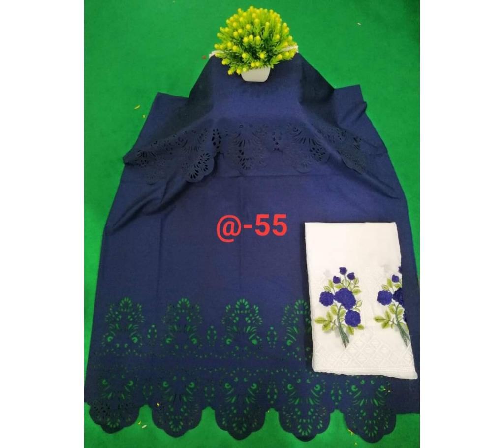 আনস্টিচড লেজার কাট কটন টু-পিস বাংলাদেশ - 1167794