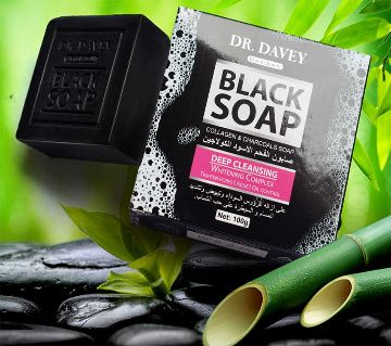Dr. Davey Black Soap Net Wet 100gm-Korea