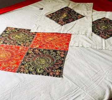 Nakshi Bed Sheets with Applic