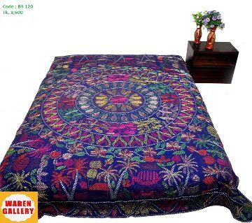 Nakshi Kantha- Full hand works purple
