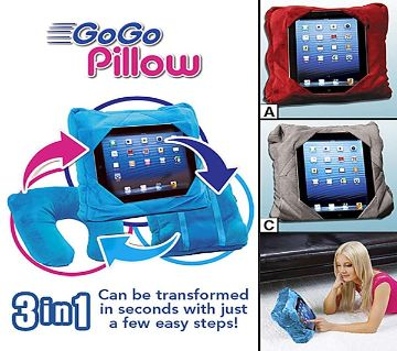 Go Go Pillow 3 In 1 Multifunction Case Travel Tablet Neck Support GoGo Pillow Travel Pillow Neck Tablet Pillow Gogo Bantal Kereta Bantal Leher