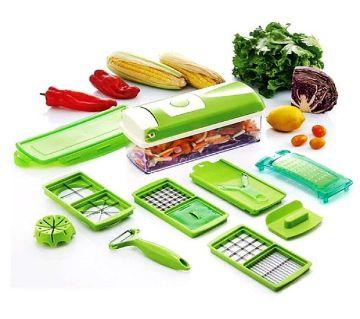 Nicer Dicer Plus 8 Pcs Salad Vegetable Fruit Slicer Shredder Cutter Peeler Chopper Kitchen Tool Set