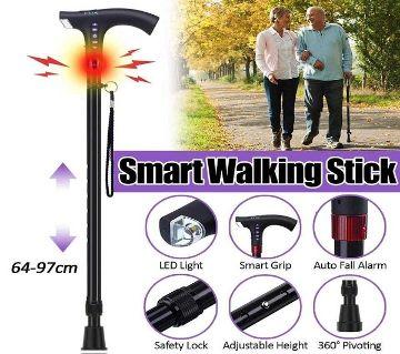 Smart FM Radio Old Man Woman Walking Stick Lighting Alarm