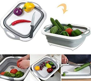 Multifunction Foldable Chopping Board Washing Basket