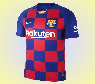 Barcelona Shorl Sleeve Home Jersey 19-20 (Thai)